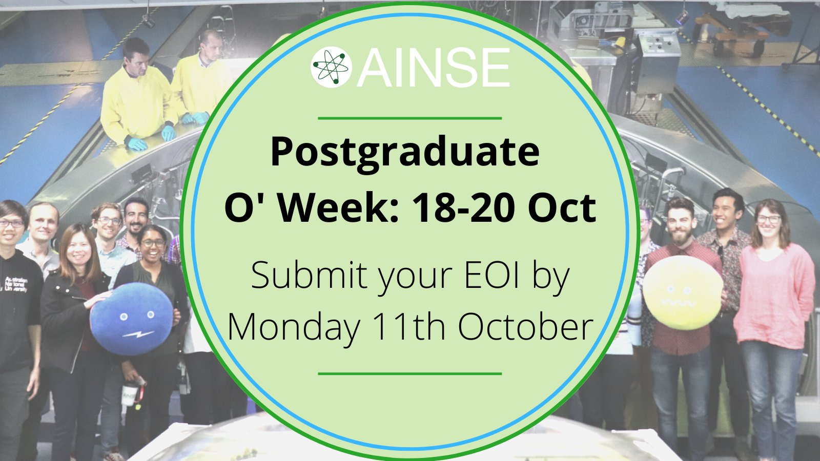 2021 AINSE Postgraduate O'Week (Online) – submit EOI by Oct 11